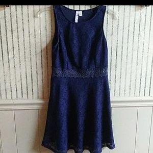 Alya Navy Blue Lace Dress Size L